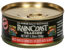 Rain Coast Trading Wild Sockeye Salmon Red, Skinless, Boneless