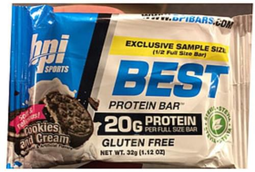 Bpi Sports Protein Bar Cookies And Cream Flavor Gluten Free - 64 g