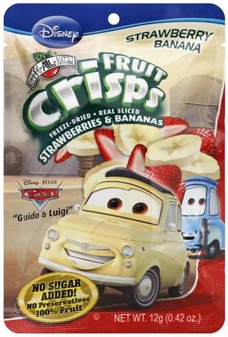 Brothers All Natural Strawberry Banana, Disney Pixar Cars, Guido & Luigi Fruit Crisps - 0.42 oz