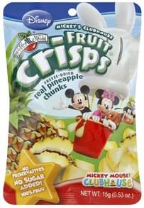 Brothers All Natural Fruit Crisps Disney, Mickey Mouse Clubhouse, Real Pineapple Chunks