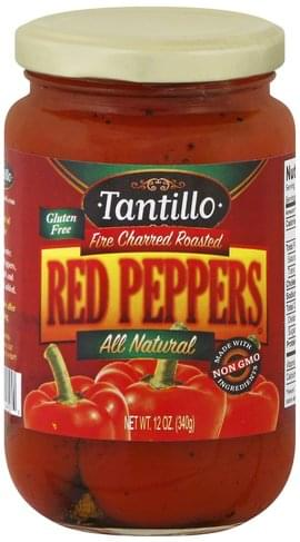 Tantillo Fire Charred Roasted Red Peppers - 12 oz