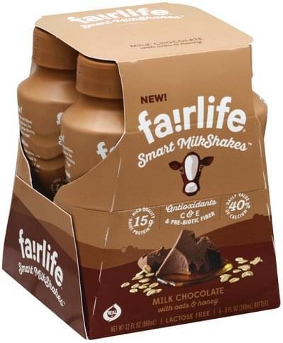 Fairlife Smart, Milk Chocolate with Oats & Honey Milkshakes - 4 ea