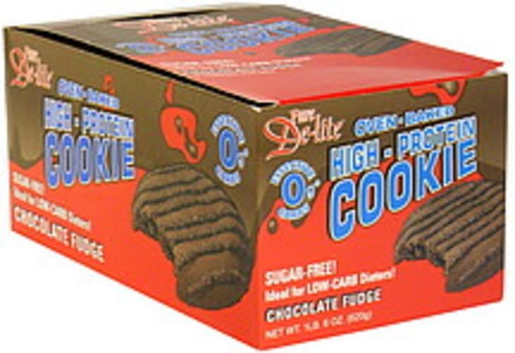 Pure De Lite Chocolate Fudge Oven-Baked High-Protein Cookie - 10 ea