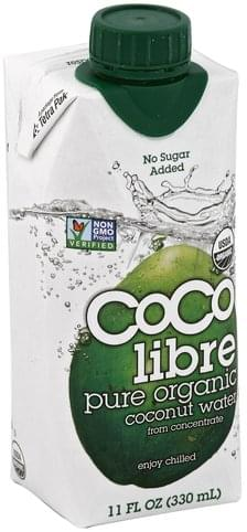 Coco Libre Pure Organic Coconut Water - 11 oz