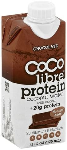 Coco Libre Protein, Chocolate Coconut Water - 11 oz