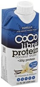 Coco Libre Coconut Water Protein, Vanilla
