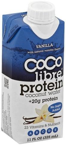 Coco Libre Protein, Vanilla Coconut Water - 11 oz