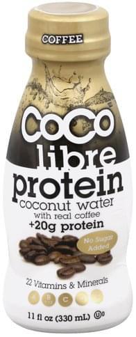 Coco Libre Protein, Coffee Coconut Water - 11 oz