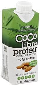 Coco Libre Coconut Water Protein, Almond