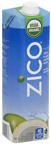 Zico 100% Organic Coconut Water - 33.8 oz