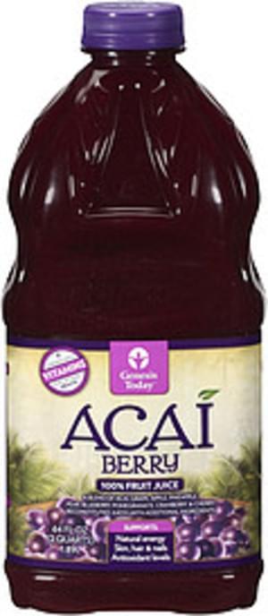 Genesis Today Acai Berry Fruit Juice - 2 QT