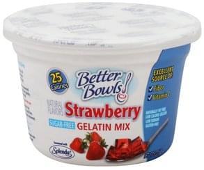Better Bowls Gelatin Mix Strawberry, Sugar-Free