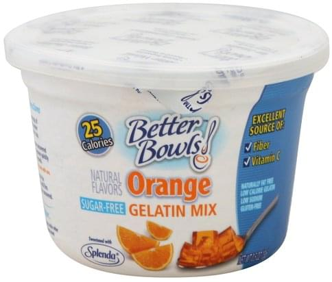 Better Bowls Orange, Sugar-Free Gelatin Mix - 0.5 oz