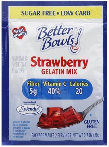 Better Bowls Strawberry Gelatin Mix - 0.7 oz