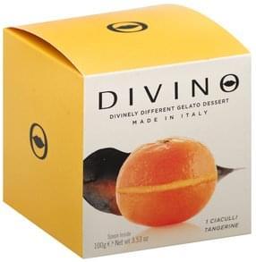 Divino Gelato Dessert Ciaculli Tangerine