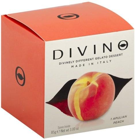 Divino Apulian Peach Gelato Dessert - 3 oz
