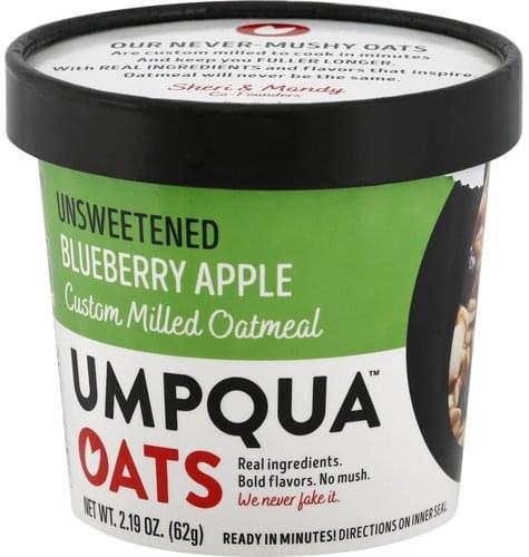Umpqua Oats Unsweetened, Blueberry Apple Oatmeal - 2.19 oz