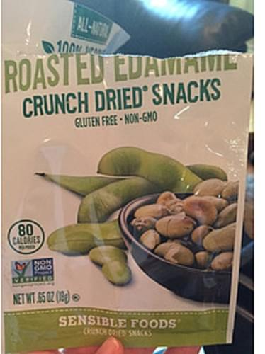 Sensible Foods Roasted Edamame Crunch Dried Snacks - 18 g