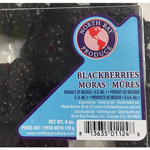 North Bay Produce Blackberries - 140 g