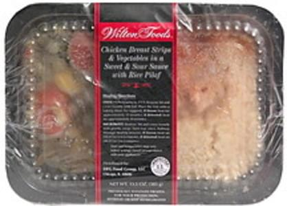 Wilton Chicken Breast Strips & Vegetables in a Sweet & Sour Sauce with Rice Pilaf