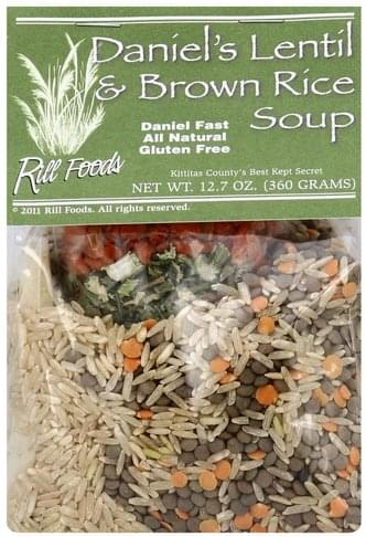 Rill Foods Daniel's Lentil & Brown Rice Soup - 12.7 oz