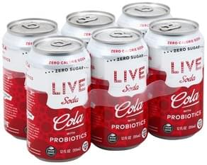 Live Soda Cola with Probiotics, Zero Calorie