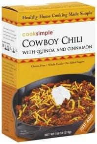 Cooksimple Cowboy Chili with Quinoa and Cinnamon