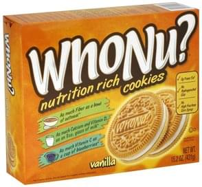 WhoNu? Cookies Nutrition Rich, Vanilla