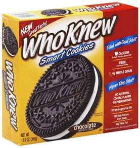 WhoKnew Cookies Smart, Chocolate Sandwich