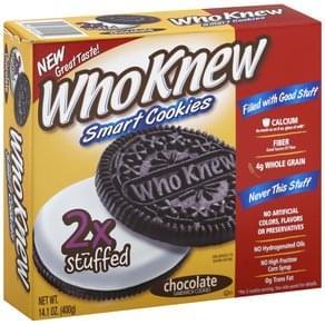 WhoKnew Cookies Smart, 2x Stuffed, Sandwich, Chocolate
