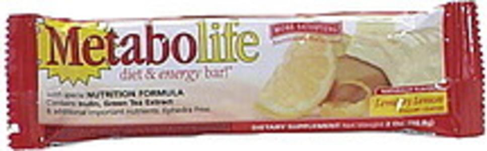 Metabolife Diet & Energy Bar, Yogurt Coated, Lemon y Lemon