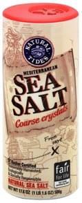 Natural Tides Sea Salt Mediterranean, Coarse Crystals