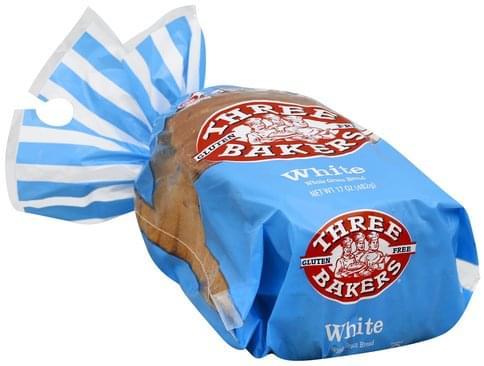 Three Bakers Whole Grain, White Bread - 17 oz