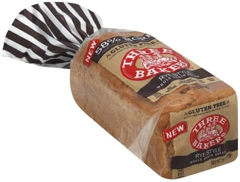 Three Bakers Whole Grain, Rye Style Bread - 19 oz