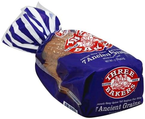 Three Bakers Whole Grain, 7 Ancient Grains Bread - 17 oz
