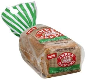 Three Bakers Bread Whole Grain and 7 Seed, Great Seed