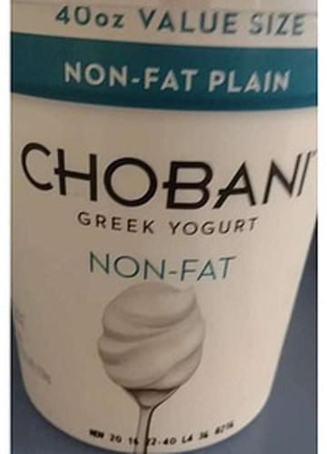 Chobani Plain Non-Fat Greek Yogurt - 227 g
