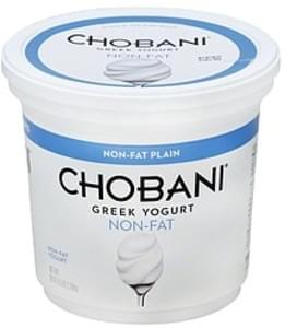 Chobani Yogurt Greek, Non-Fat, Plain