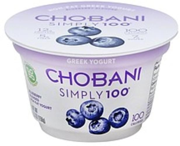 Chobani Greek, Non-Fat, Blueberry
