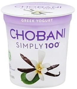 Chobani Yogurt Greek, Non-Fat, Vanilla Blended