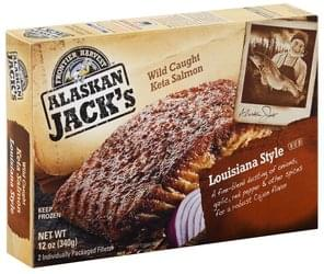 Alaskan Jacks Salmon Wild Caught Keta, Louisiana Style Rub