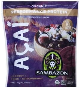 Sambazon Superfruit Packs Organic, Performance Protein
