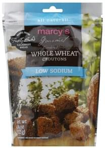 Marcys Croutons Whole Wheat, Low Sodium
