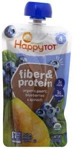 Happy Tot Fruit & Veggie Blend Fiber & Protein, 4 (Tots & Tykes)