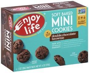 Enjoy Life Cookies Soft Baked, Double Chocolate Brownie, Mini