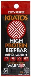 Kratos Beef Bar High Protein, Zesty Pepper