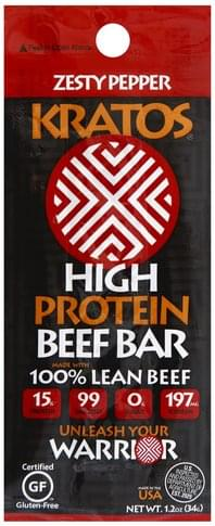 Kratos High Protein, Zesty Pepper Beef Bar - 1.2 oz