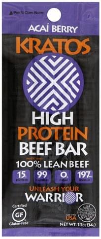 Kratos High Protein, Acai Berry Beef Bar - 1.2 oz