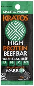 Kratos Beef Bar High Protein, Ginger & Wasabi