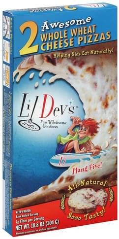 Little Devs Whole Wheat Cheese Pizza - 2 ea